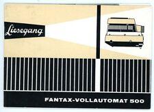 LIESEGANG Diaprojektor Bedienungsanleitung FANTAX - VOLLAUTOMAT 500 Manual (Y38