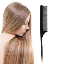 Peigne Noir à queue Pointue Professionnel Coiffure Cheveux Blister Long 21 cm