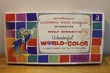 Vintage 1962 Disney Ludwig Von Drake Wonderful World Of Color Game Complete