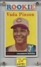 Vada Pinson  Cincinnati Reds  Rookie Cards 1958 Topps 420 (e) BV$40