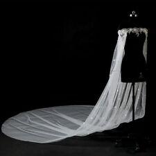 Boat Neck White Ivory Lace Cape Cloak Shawl Wedding Jacket Bridal Wrap Train