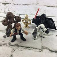 Playskool Star Wars Figures From Death Star Escape Set Darth Vader C3PO Hans