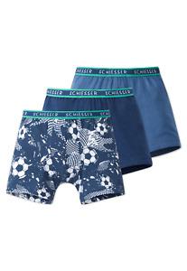 Schiesser Boys Hip Shorts Football 3er Pack 104 116 128 140 Briefs