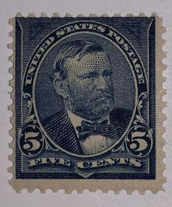 Travelstamps: 1894-98 US Stamps Scott#281, 5 cent, Grant, mint, OG, MNHOG LQQK