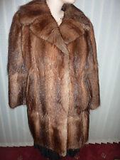 """Ladies real soft Bisam Mink fur coat bust 38"""" size 12 length 32"""""""