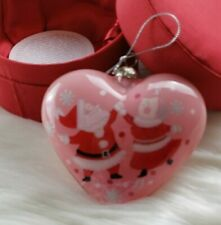 Pier 1 Mr & Mrs Claus Heart Ornament