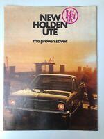 Vintage 1970's New Holden Ute Sales Brochure Kingswood