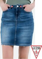 Guess Womens Denim Midi Skirt