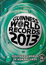 """AS NEW"" Guinness World Recor, Guinness World Records 2013, Hardcover Book"