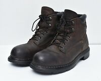 Red Wing Shoes USA WATERPROOF Leather Steel Toe Work Logger Biker Boots Sz 9.5