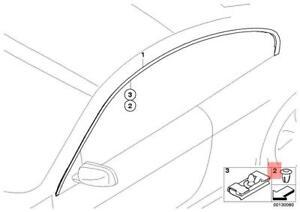 Genuine Set Of 10 BMW 740i Grommet Clip Windshield Moulding, Door Moulding
