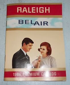 Vintage 1966 Raleigh Belair Cigarettes Premium Catalog Reference Guide