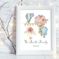 Personalised A4 Print,Family, Name, Gift, Wall Art-NO FRAME
