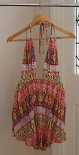 Summer Halter Neck Dress With Low Back, Size 8