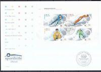 BRD 2002 FDC Stiftung Deutsche Sporthilfe Olympische Winterspiele Salt Lake City