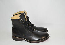 """New! Bed Stu """"Post"""" Men's Black Hand Washed Leather Ankle Combat Boots Size 8.5"""