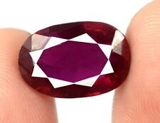 Burma Ruby 100% Natural 10.55 Ct Gemstone Oval Cut Free Shipping Certified Q4992