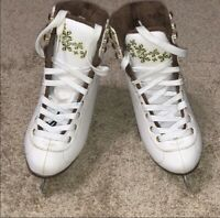 Girls BLADE RUNNER White Ice Skates Size 1