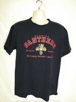 VTG 90s Florida Panthers Pro Player T Shirt Men's Size Large Blue NHL Hockey