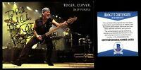 Roger Glover signed autograph auto 4x6 card Bassist for Deep Purple Beckett Cert