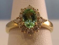14K Yellow Gold 1.3 Carat Paraiba Tourmaline & Dia Ring