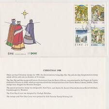 IRELAND, Scott #730-733 on Illustrated Unaddressed FDC, Issued 11/24/88