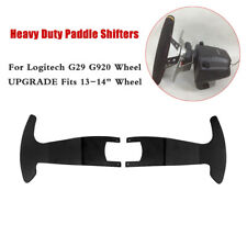 "Black Heavy Duty Paddle Shifters for Logitech G29 G920 13-14"" Wheel UPGRADE YUY"