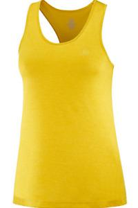 2020 Salomon Women's Agile Tank Running Shirt Sulphur