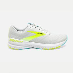 Brooks Ravenna Running Shoes Mens Support Light Trainers White UK 8 EUR 42.5