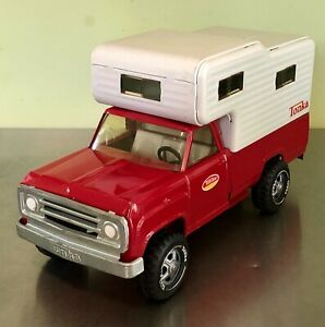 Tonka Red Dodge Pickup Truck With Camper