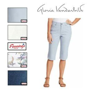 SALE! Gloria Vanderbilt Ladies' Comfort Stretch Skimmer Capri Pant VARIETY - A42