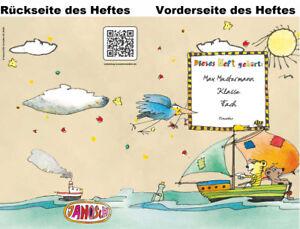 2 JANOSCH-Hefte A5, »Spannende Seefahrt«, Druck, Farbe und Lineatur wählbar