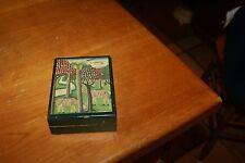 Vintage Wooden Trinket Box OVERLAY ZEBRAS GARDEN GREEN SMELLS CEDAR INSIDE