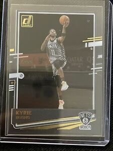 KYRIE IRVING 2020-21 CLEARLY DONRUSS BASKETBALL GOLD ACETATE SP
