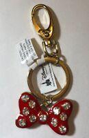 Disney Parks Minnie Mouse Bow Jeweled Metal Keychain
