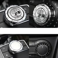 2 x High Quality AMG Emblem Multimedia Button Decorative 3D Sticker For Mercedes