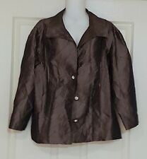 Womens size 18 brown/bronze coloured evening jacket made by KAMIKO