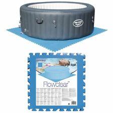 Bestway 8x Protectores Suelo Piscina Azul Cuidado Protección Piso Jacuzzi Spa