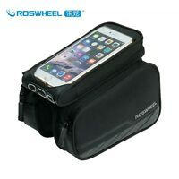 """ROSWHEEL BICYCLE BIKE 5.7"""" Mobie Phone HOLDER CYCLE FRAME POUCH BAG CASE BLACK"""