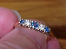 Engagement Band Natural Sapphire Fine Rings