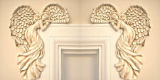 Set Of Vintage Shabby Chic Guardian Angel Door Window Frame Home Wall Decoration