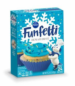 pillsbury funfetti winter vanilla blue sprinkle cake mix