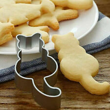 Cat Shape Cookie Mold Cutter Moulds Stainless Steel Biscuits Cutters DIY Tool