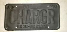 VINTAGE ORIGINAL 1980 MISSOURI DODGE CHARGER PERSONALIZED PLATE CHARGR VANITY 69