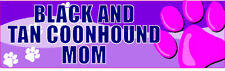 Black And Tan Coonhound Mom Cute Pet Dog Sticker