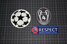 UEFA CHAMPIONS LEAGUE and 4 TIMES CHAMPIONS and RESPECT BADGES 2013-2014
