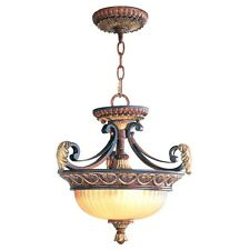 Livex Villa Verona Bronze  2 Light Dual Mode Ceiling Lighting Fixture 8577-63
