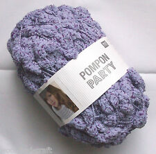 RICO DESIGN POMPON PARTY POMPOM SCARF YARN WOOL * 200G BALL ! * LILAC PURPLE (6)
