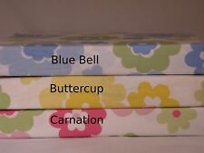 Set/2 Crib Sheets Yellow Green Boy Girl Baby Flower Sheet Floral Fitted layette