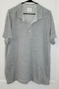 BILLY REID Polo Shirt Men's XXL Cotton Polyester Light Gray